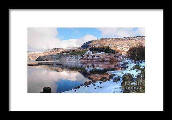 Landscape Framed Print featuring the photograph Reflections In Winter by Wobblymol Davis