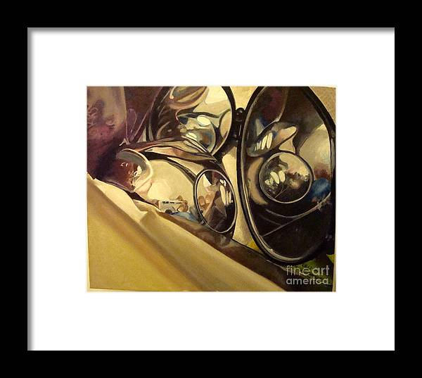 Mirrors Framed Print featuring the painting Reflections by Joselyn Trevino