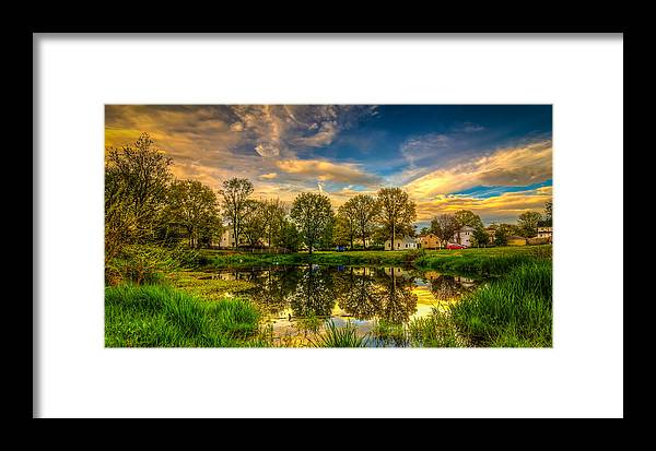Sky Framed Print featuring the photograph Reflections by Lechmoore Simms