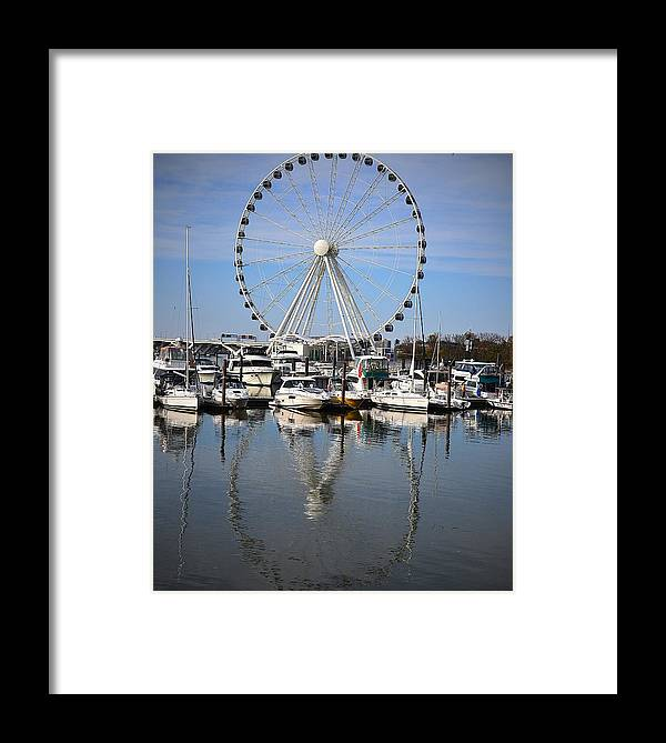 Ferris Framed Print featuring the photograph Reflections by Mary Zeman