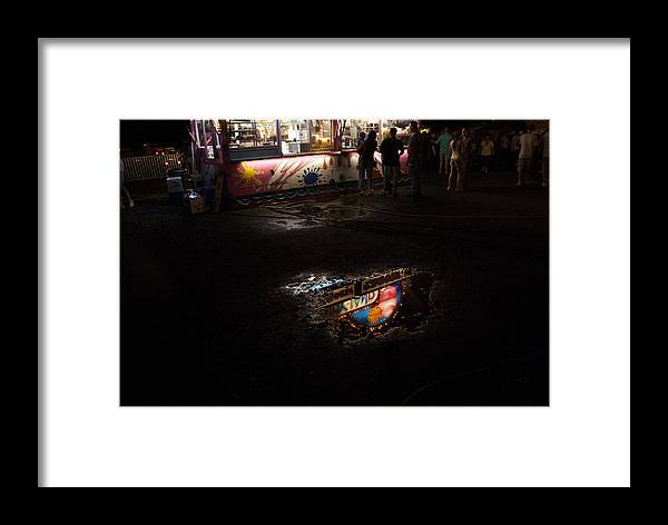 Water Framed Print featuring the photograph Reflections On A Mid-summer Night by Thomas Shanahan