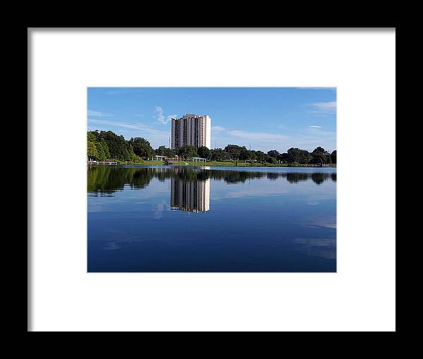 Landscape Photography Framed Print featuring the photograph Reflections On Lake Silver by Chris Mercer