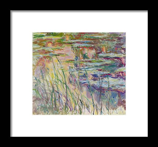 Reflection Framed Print featuring the painting Reflections On The Water by Claude Monet