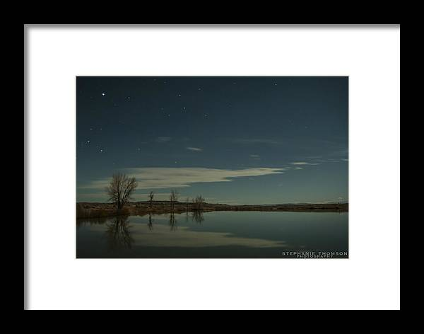 Star Framed Print featuring the photograph Reflections by Stephanie Thomson