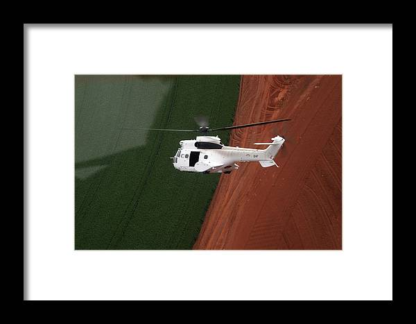 Reflection Framed Print featuring the photograph Reflective Helicopter by Paul Job