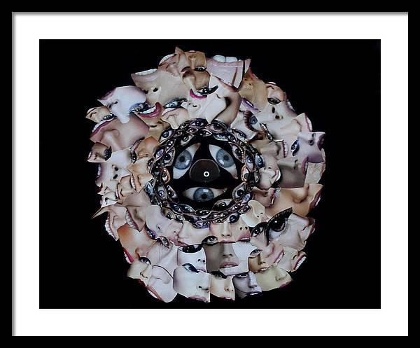 Framed Print featuring the mixed media Reflective Mandala by Arvo Zylo