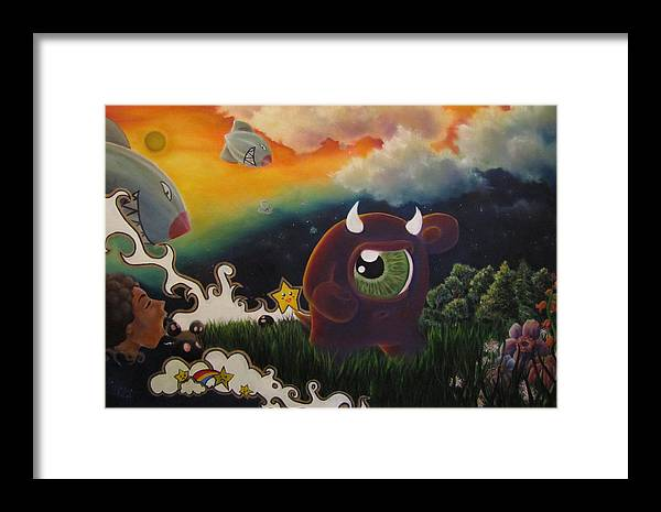 Bombs Framed Print featuring the painting Refuge by LinZy Miggantz