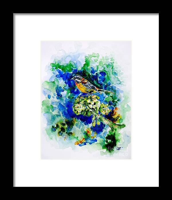 Eina Mora Framed Print featuring the painting Reina Mora by Zaira Dzhaubaeva
