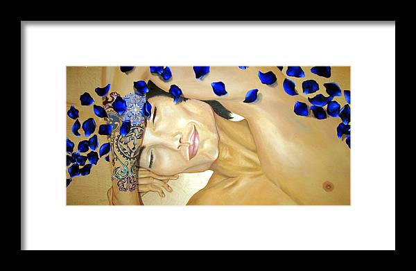 Original Framed Print featuring the painting Relaxed by Stephanie LeVasseur
