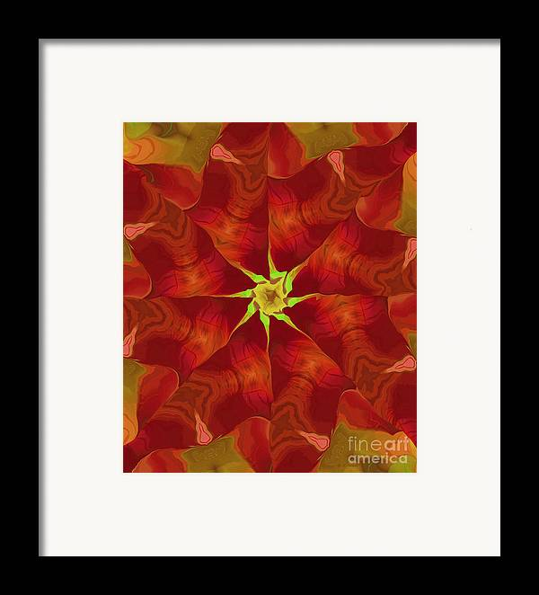 Abstract Framed Print featuring the digital art Release Of The Heart by Deborah Benoit