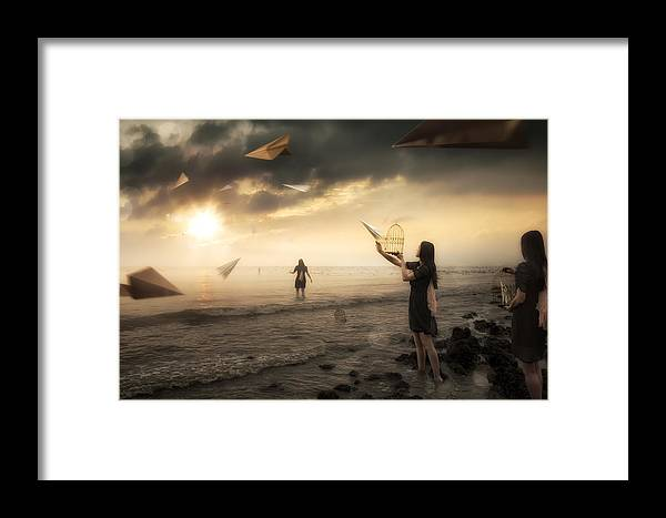 Paper Framed Print featuring the photograph Released by Christophe Kiciak