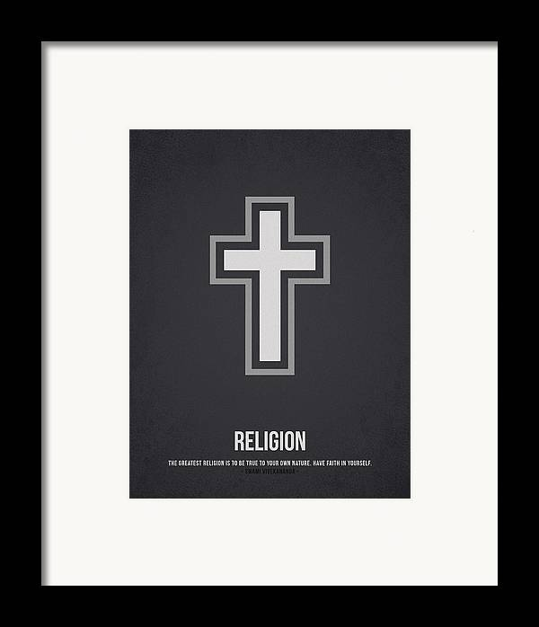 Rosary Framed Print featuring the drawing Religion by Aged Pixel