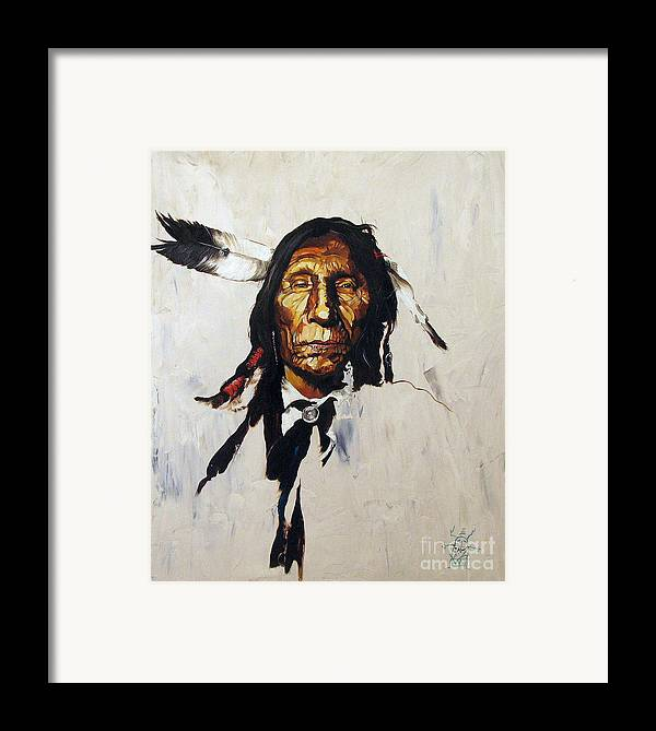 Southwest Art Framed Print featuring the painting Remember by J W Baker
