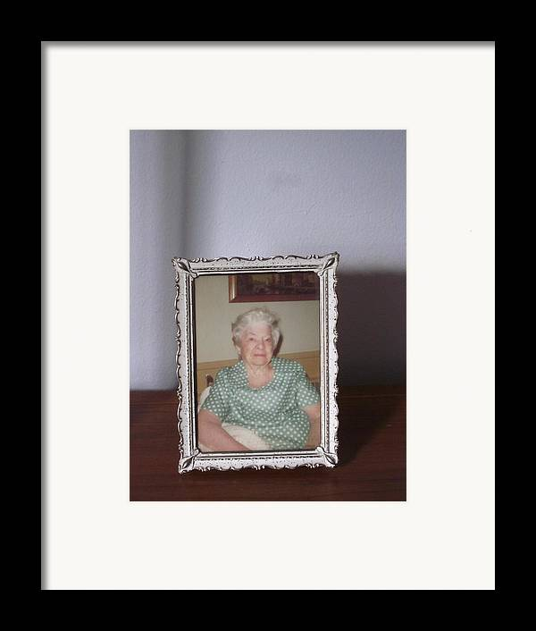 Guy Ricketts Photography Framed Print featuring the photograph Remembering Grandma by Guy Ricketts