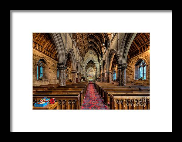 Aisle Framed Print featuring the photograph Remembrance Day Poppies by Adrian Evans