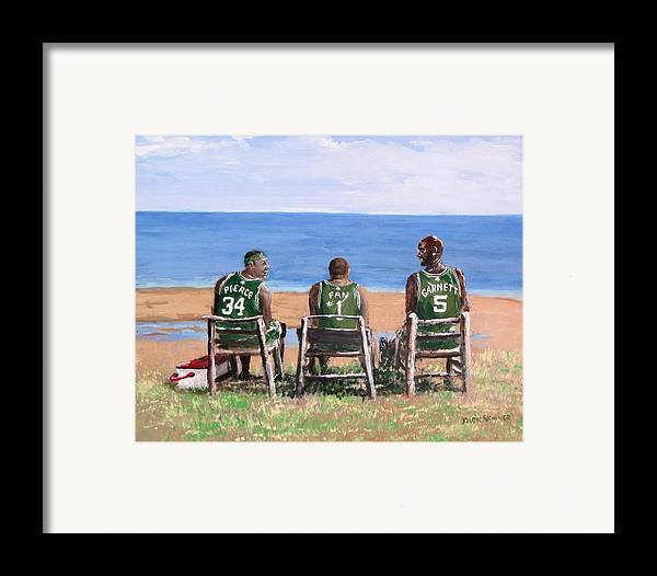Boston Framed Print featuring the painting Reminiscing The Good Old Days by Jack Skinner