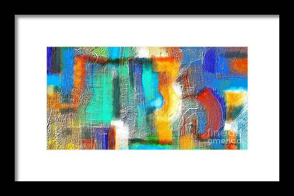 Abstract Art Prints Framed Print featuring the digital art Repercussions by D Perry
