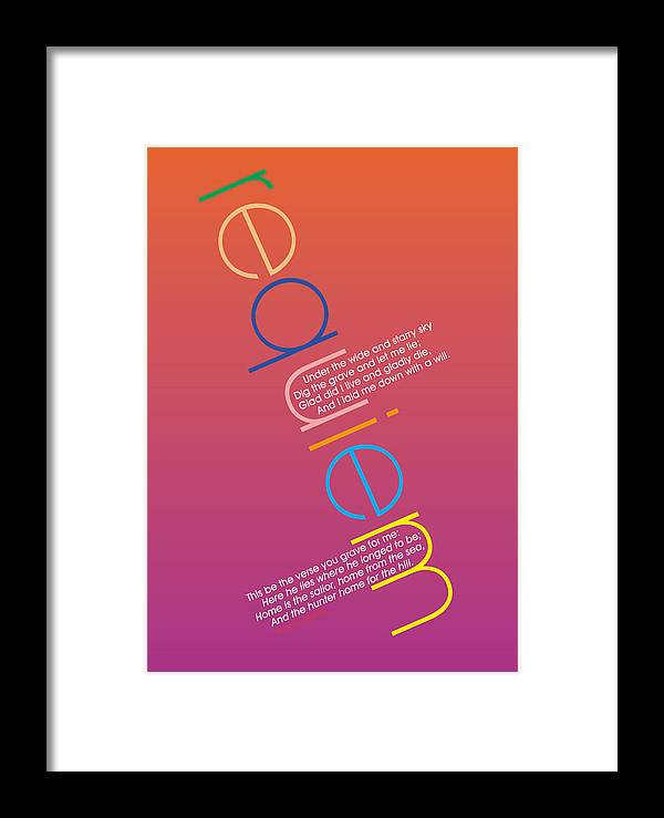 Poetry Poster Framed Print featuring the digital art Requiem by John Hebb