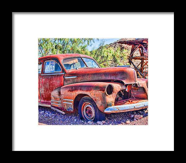 Junk Cars Framed Print featuring the photograph Rest In Peace by Ron Metz