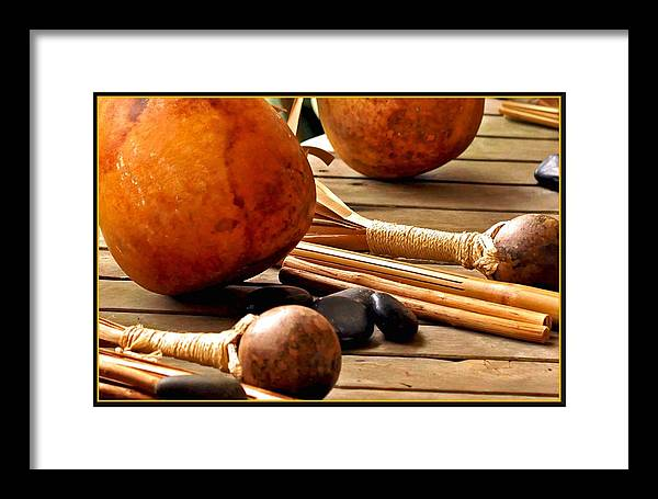 Hawaii Framed Print featuring the photograph Resting Hula Implements by Hans R Hemken