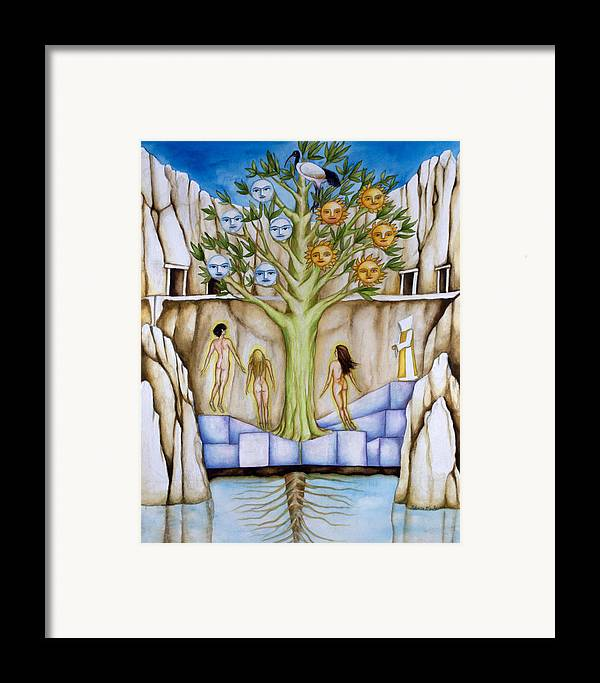 Resurrection Framed Print featuring the painting Resurrection Island by Rebecca Barham