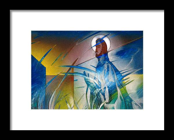 Jesus Framed Print featuring the painting Resurrection Of Christ 1990 by Glenn Bautista