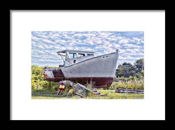 Boat Framed Print featuring the photograph Retired by Richard Bean