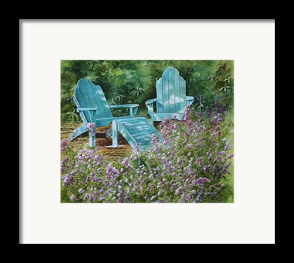 Peaceful Scene Framed Print featuring the painting Retirement II by Patsy Sharpe