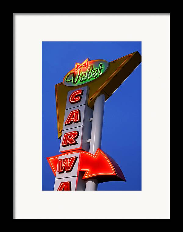 Car Wash Framed Print featuring the photograph Retro Car Wash Sign by Norman Pogson