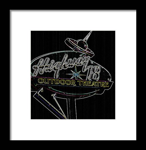 Culture Framed Print featuring the photograph Retro Collection Drive-in Theaters by Deborah Klubertanz