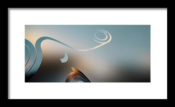 Curve Framed Print featuring the digital art Retro Pop Art Design by Ralf Hiemisch