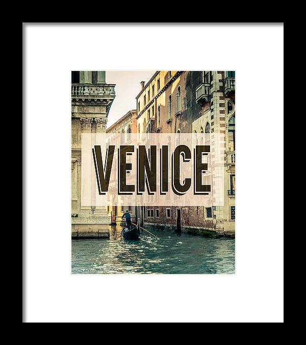 Aged Framed Print featuring the photograph Retro Venice Grand Canal Poster by Mr Doomits