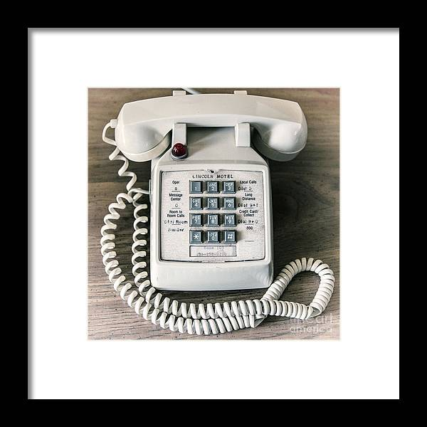 Telephone Framed Print featuring the photograph Retrophonic by Rob Hawkins