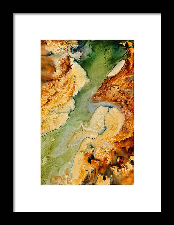 Landscape Framed Print featuring the painting Returning To The Source by Julia Graf