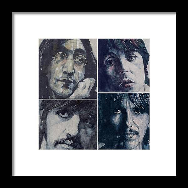The Beatles Framed Print featuring the painting Reunion by Paul Lovering