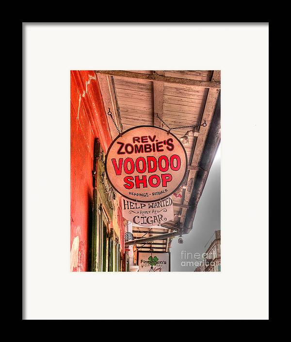 Voodoo Shop Framed Print featuring the photograph Rev. Zombie's by David Bearden