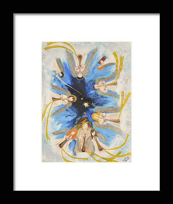 Art-by-cassie Sears Framed Print featuring the painting Revelation 8-11 by Cassie Sears