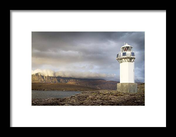Lighthouse Framed Print featuring the photograph Rhue Lighthouse by Bob Falconer