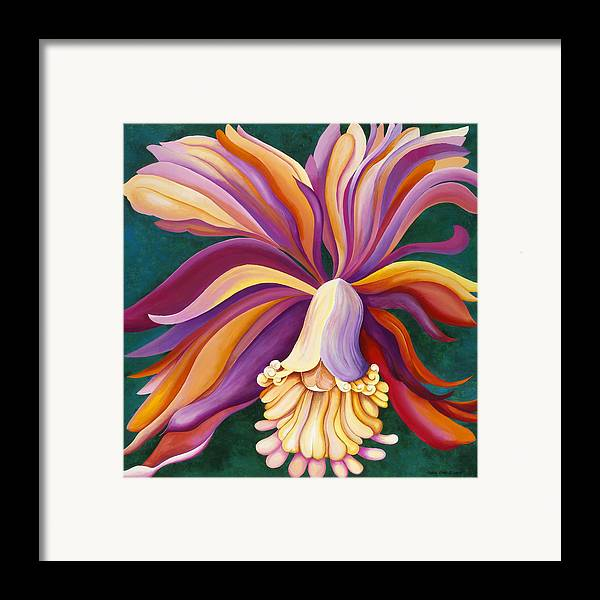 Orchid Framed Print featuring the painting Ribbon Orchid by Carol Sabo