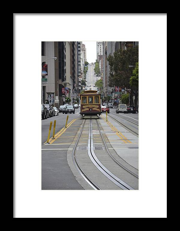 Street Car Framed Print featuring the photograph Rice A Roni by Mike Hinton