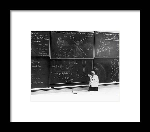 1900s Framed Print featuring the photograph Richard Feynman by Us Department Of Energy