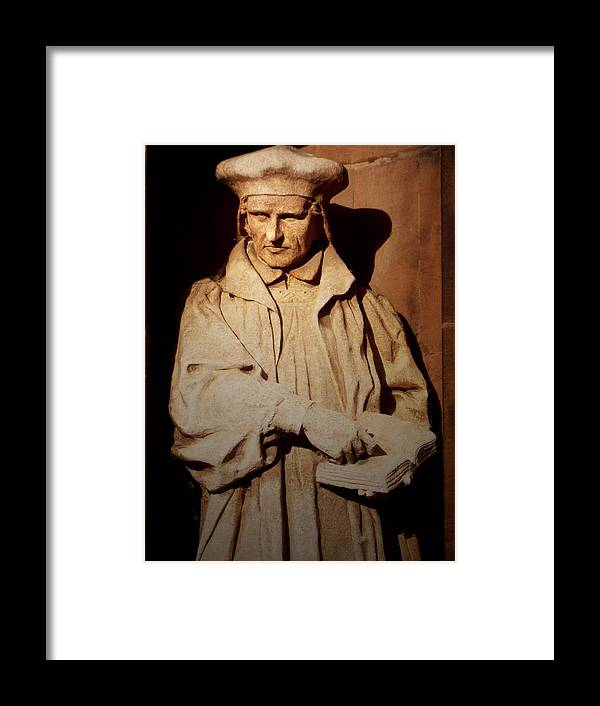 Statue Framed Print featuring the photograph Richard Parry by Brainwave Pictures