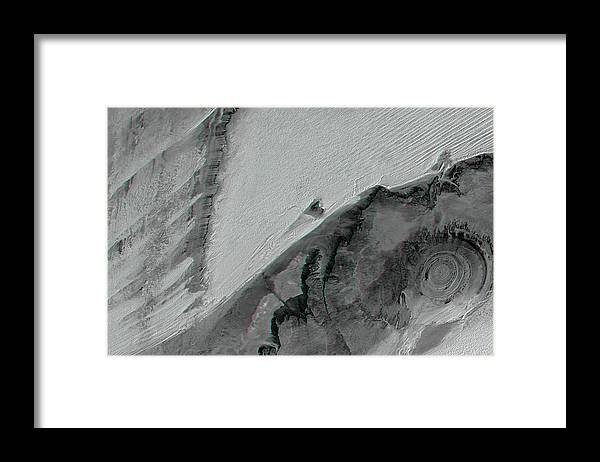 Richat Structure Framed Print featuring the photograph Richat Structure by Nasa/jpl/nima/science Photo Library