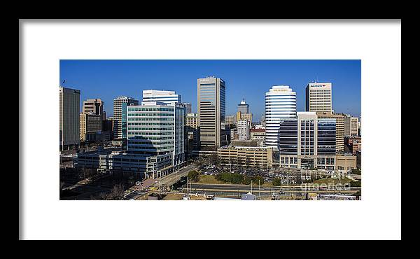 300 Places Usa Framed Print featuring the photograph Richmond Skyline by Debra K Roberts
