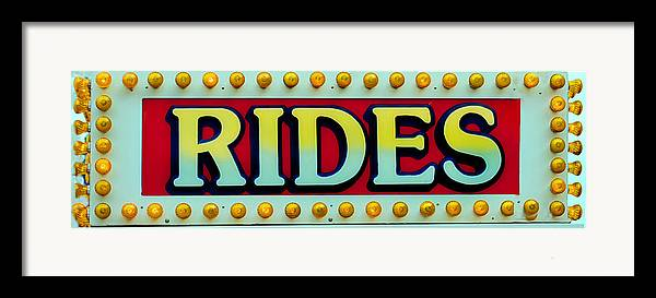 Fair Framed Print featuring the photograph Rides by Skip Willits