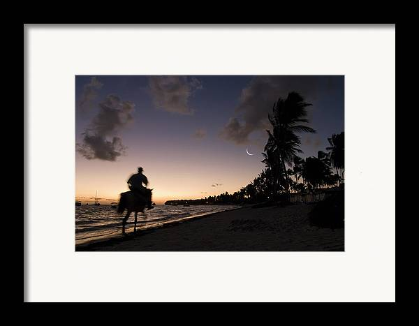 3scape Framed Print featuring the photograph Riding On The Beach by Adam Romanowicz
