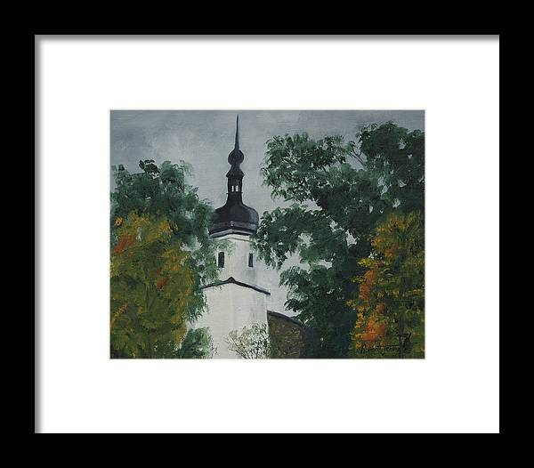 Landscape Framed Print featuring the painting Riesa Germany by Robert Jenson