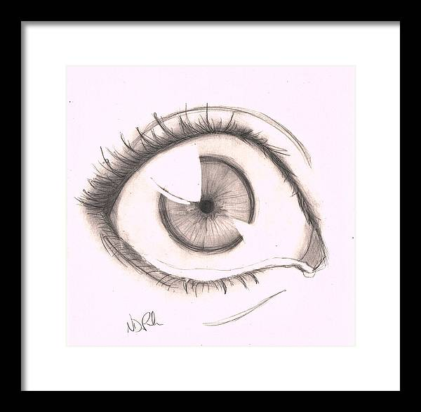 Right Framed Print featuring the drawing Right Eye by Nicole DePreker
