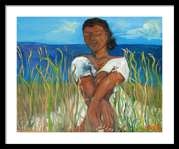 African American Art Framed Print featuring the painting Right Time Right Place by Marquita Willis