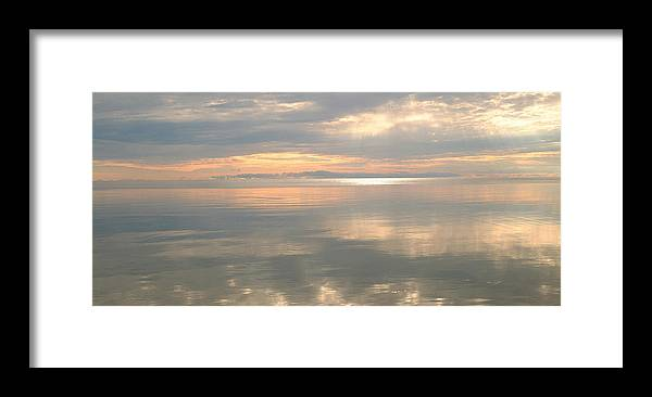 Door County Framed Print featuring the photograph Rileys Bay Door County Sunset by Peg Toliver